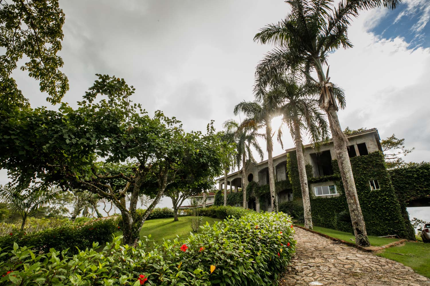 Exterior of wedding ceremony building at Castle Club in Cabarete Dominican Republic
