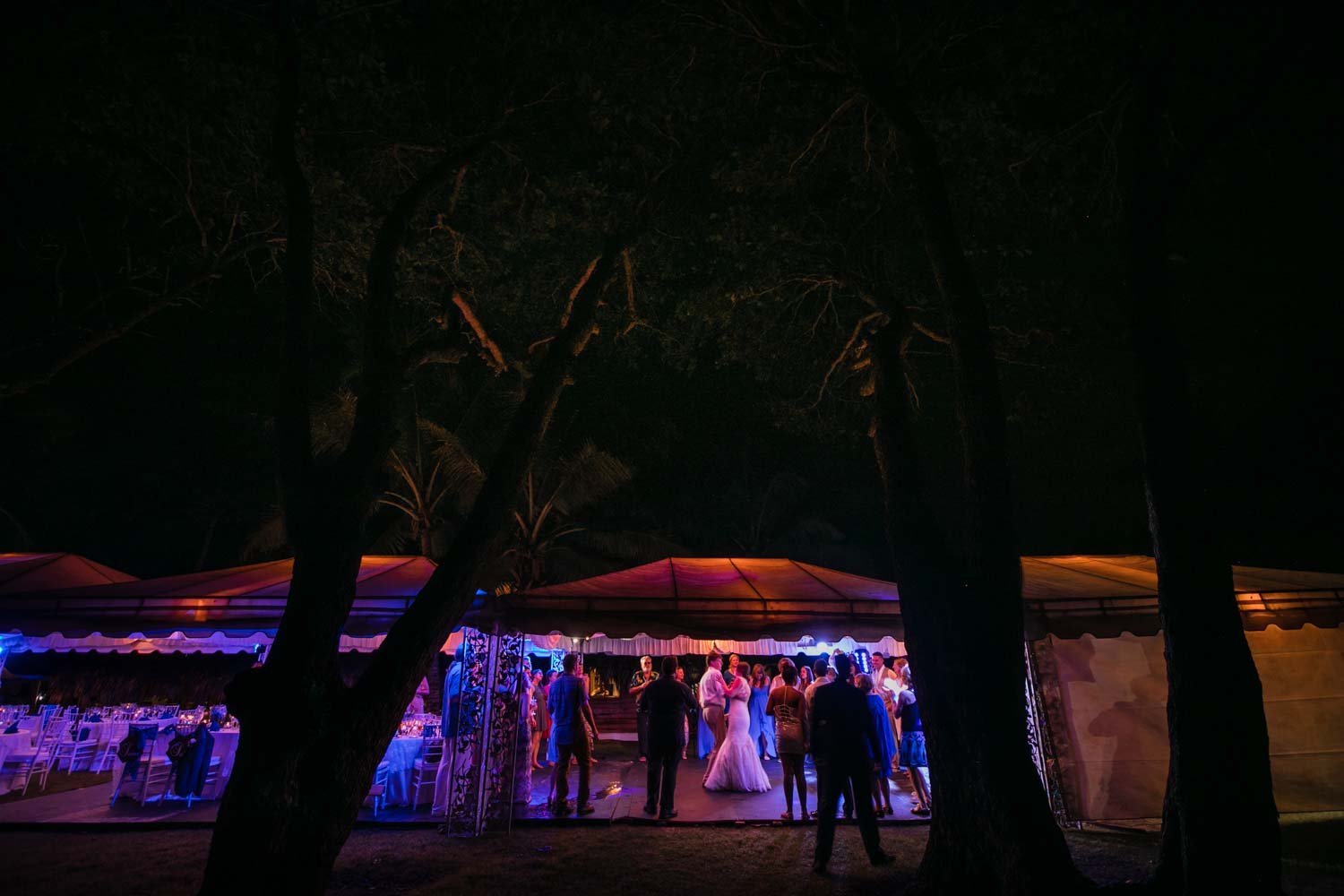 Father daughter dance under tent at Hideaway Beach Resort in Cabarete Dominican Republic