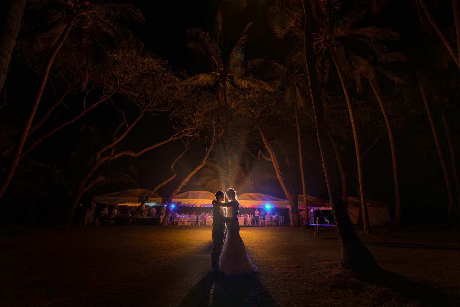 Wedding couple at Hideaway Beach Resort in Cabarete Dominican Republic